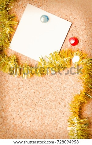 christmas card with christmas ribbons #728094958