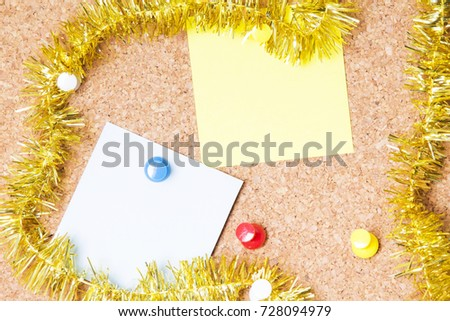 christmas card with christmas ribbons #728094979