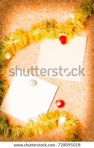 christmas card with christmas ribbons #728095018