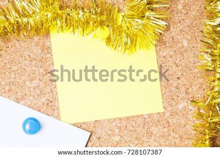 christmas card with christmas ribbons #728107387