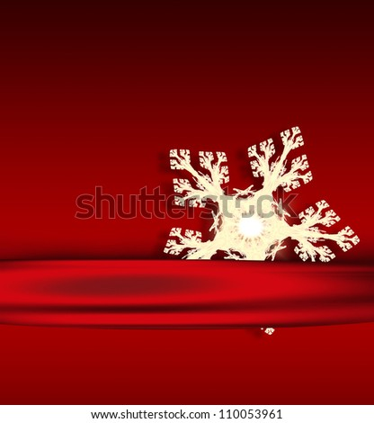 christmas card with light snowflake