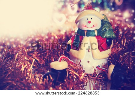 christmas card with snowman....