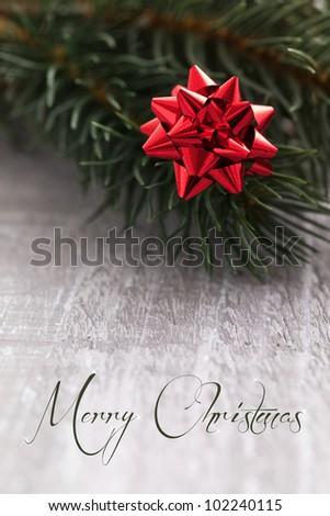 christmas card with text merry christmas