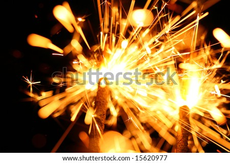 christmas celebration sparklers