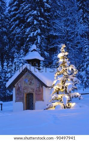 christmas chapel in Bavaria, Germany