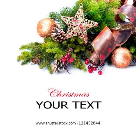 Christmas. Christmas Decoration Holiday Decorations Isolated on White Background