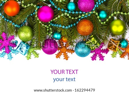 Christmas. Christmas Decoration Holiday Decorations Isolated on White Background