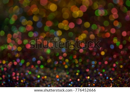Christmas colorful and glowing glowing lights #776452666