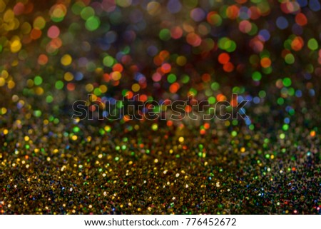 Christmas colorful and glowing glowing lights #776452672