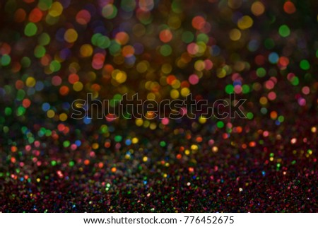 Christmas colorful and glowing glowing lights #776452675