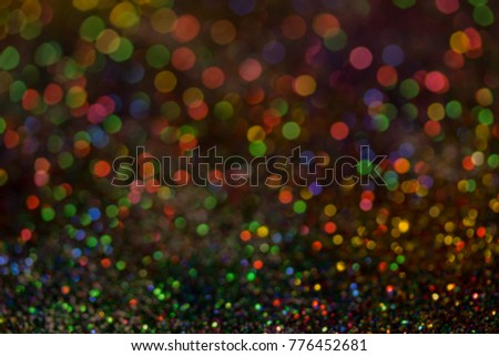 Christmas colorful and glowing glowing lights #776452681