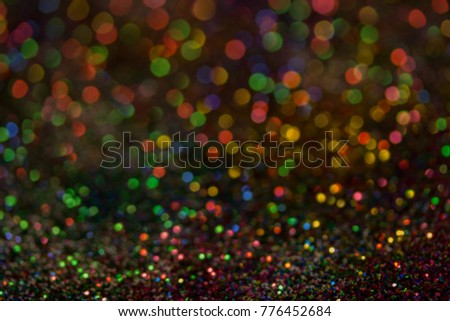 Christmas colorful and glowing glowing lights #776452684