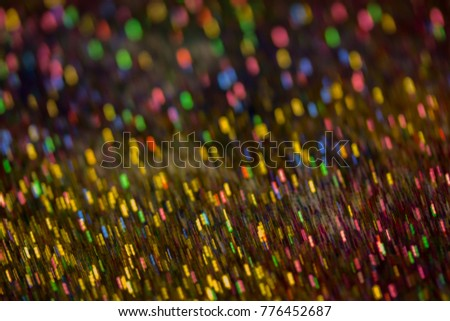 Christmas colorful and glowing glowing lights #776452687