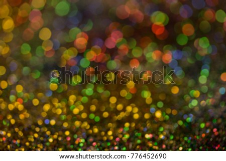 Christmas colorful and glowing glowing lights #776452690