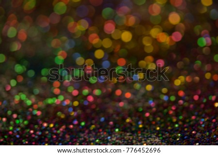 Christmas colorful and glowing glowing lights #776452696