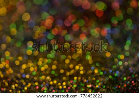 Christmas colorful and glowing glowing lights #776452822