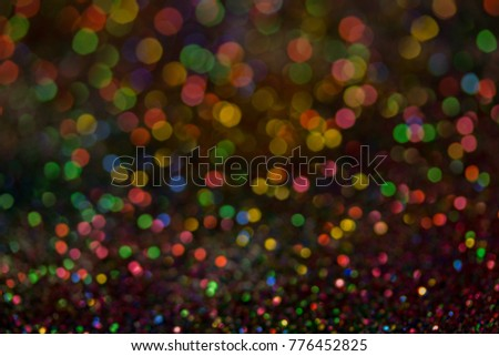 Christmas colorful and glowing glowing lights #776452825