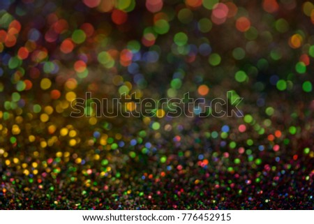 Christmas colorful and glowing glowing lights #776452915