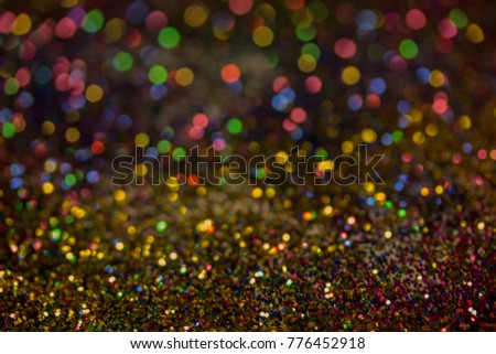 Christmas colorful and glowing glowing lights #776452918