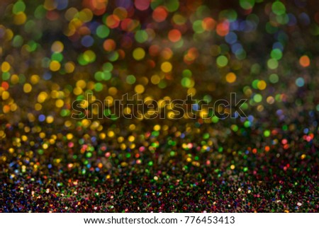 Christmas colorful and glowing glowing lights #776453413