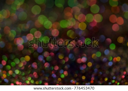Christmas colorful and glowing glowing lights #776453470