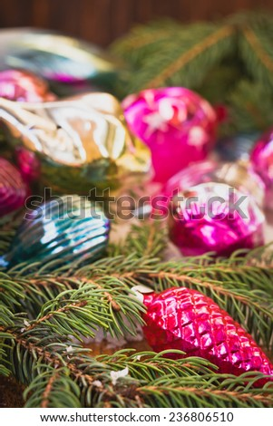 Christmas composition and decoration #236806510