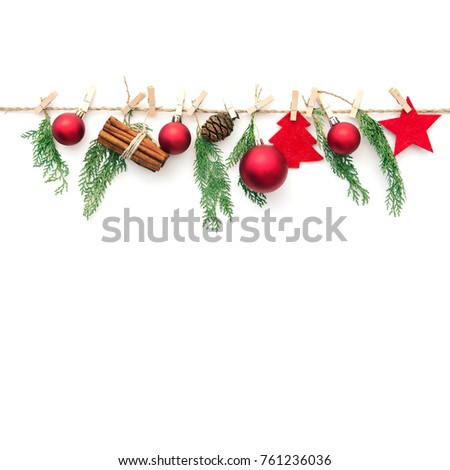 Christmas composition on white background  #761236036