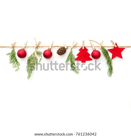 Christmas composition on white background  #761236042