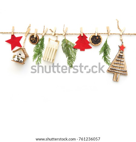 Christmas composition on white background  Zdjęcia stock ©