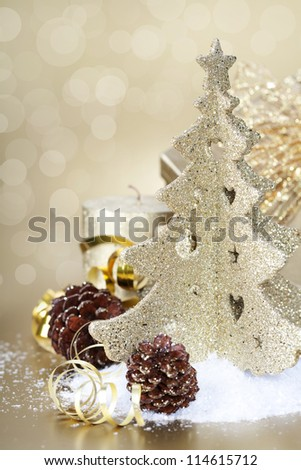 Christmas composition with Christmas decoration