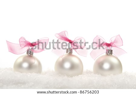 Christmas composition with christmas decoration over white