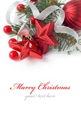 Christmas composition with space for text