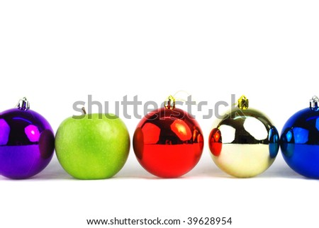 Christmas concept decorations isolated on white