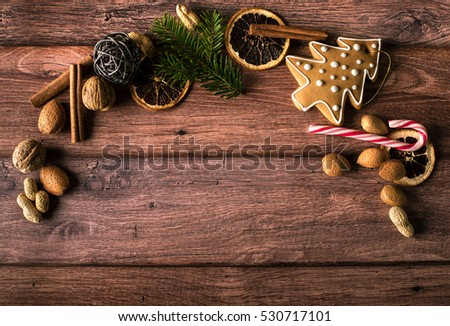 Christmas concept on a wooden background #530717101
