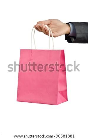 Christmas concept with shopping bag