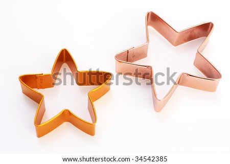 Christmas cookie cutters in the shape of stars