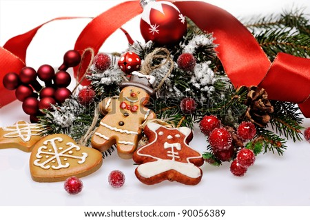 Christmas cookie with decoration