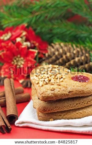 Christmas cookies and cinnamon sticks