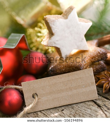 Christmas cookies description field