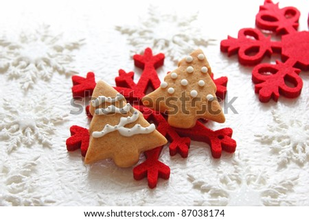 Christmas cookies with  christmas decoration