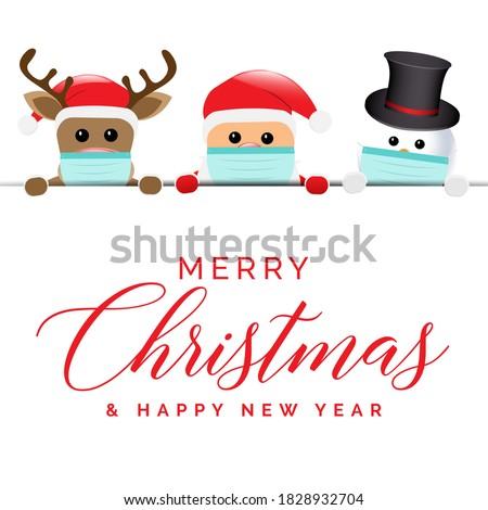 Christmas Coronavirus Santa Illustration Background