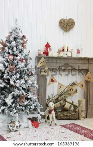 christmas decorated room