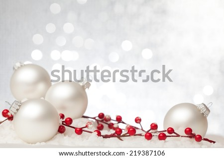 Christmas decoration against beautiful background. Useful as a christmas card. #219387106