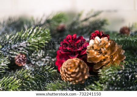 Christmas decoration as a background./ Christmas decoration. #732241150