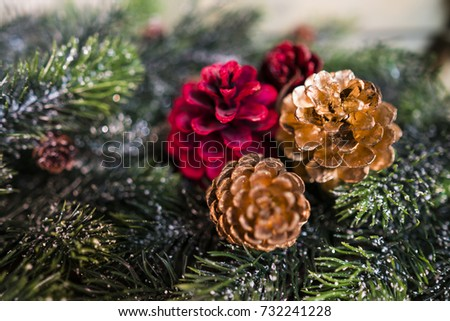 Christmas decoration as a background./ Christmas decoration. #732241228