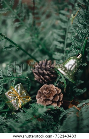 Christmas decoration as a background./ Christmas decoration #752143483