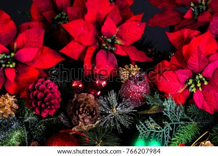 Christmas decoration as a background./ Christmas decoration #766207984