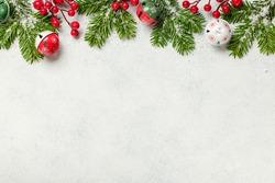 Christmas decoration background. Christmas card