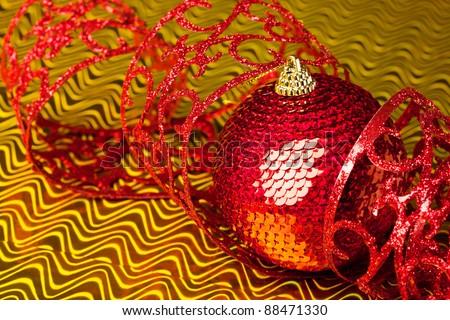 Christmas decoration ball with ribbon