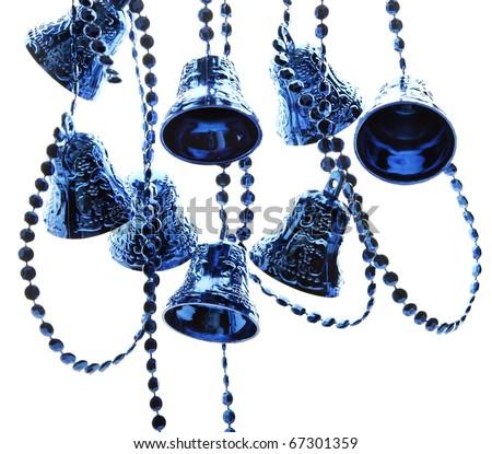 Christmas decoration blue bells